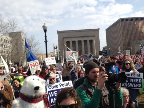 Cove Point Rally in downtown Baltimore, February 20, 2014